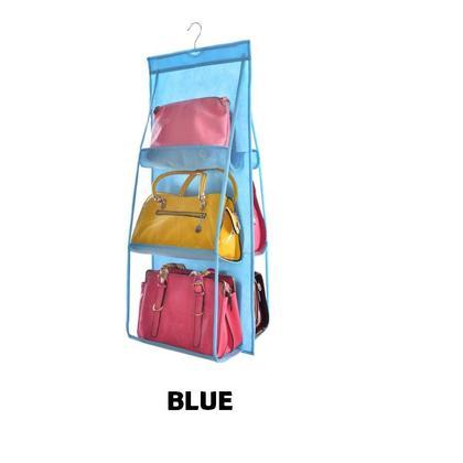 6 Pockets Hanging Storage Organizer Bag (5 Color Options)