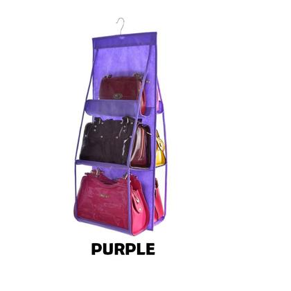6 Pockets Hanging Storage Organizer Bag (5 Color Options)