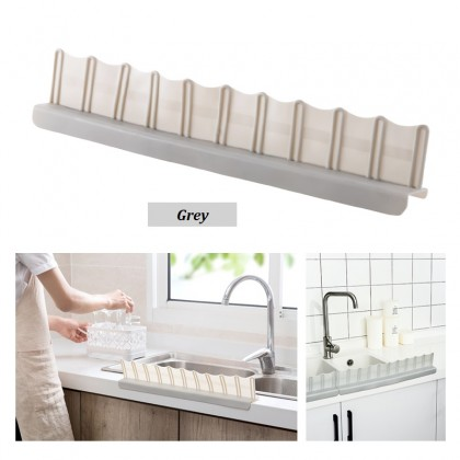 Strong Power Suction TPR  Anti Water Splash Guard for Kitchen Countertop Sinks Stoves