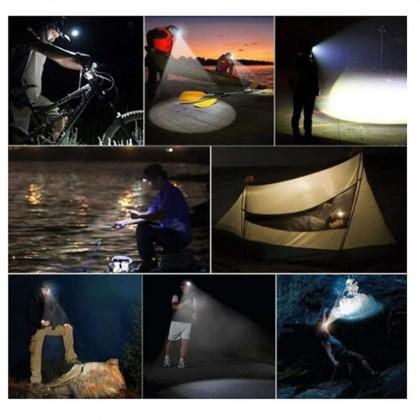 Flashlight High Lumens Brightest Head Lamp LED Waterproof Work Headlight Rechargeable Headlamp