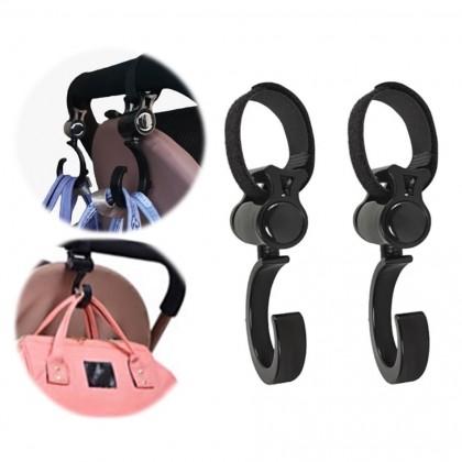2PCS Baby Stroller Hooks Hanger Bag